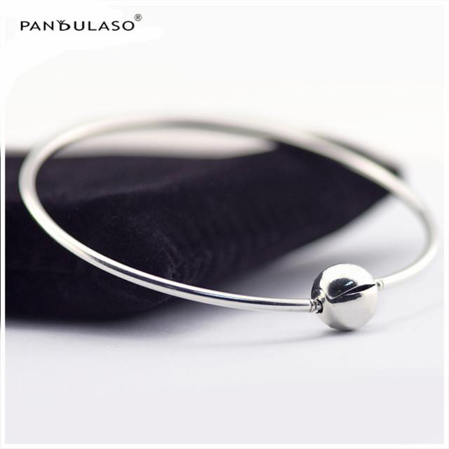 A ESSÊNCIA da COLEÇÃO Jóias Pulseiras Mulher Pulseira de Prata Pulseiras de prata Pulseira Europeu Para DIY Beads Atacado