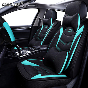 Image 3 - KADULEE flax car seat cover for Lada granta vesta priora kalian largus xray niva protector car accessories Automobiles Seats