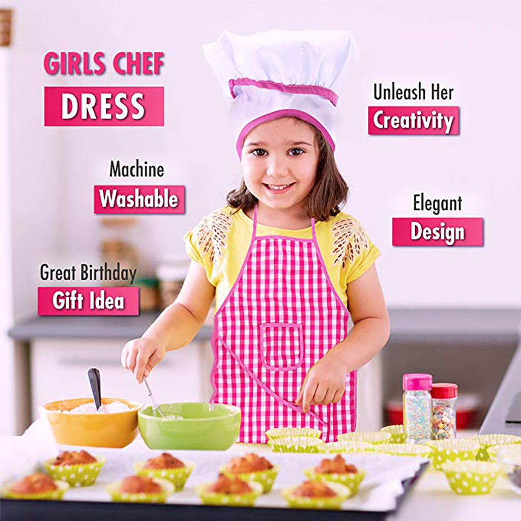 2019 Hot Sale  11pcs Kids Cooking And Baking Set Kitchen Costume Role Play Kits Apron Hat  Interesting Play House Toy Set