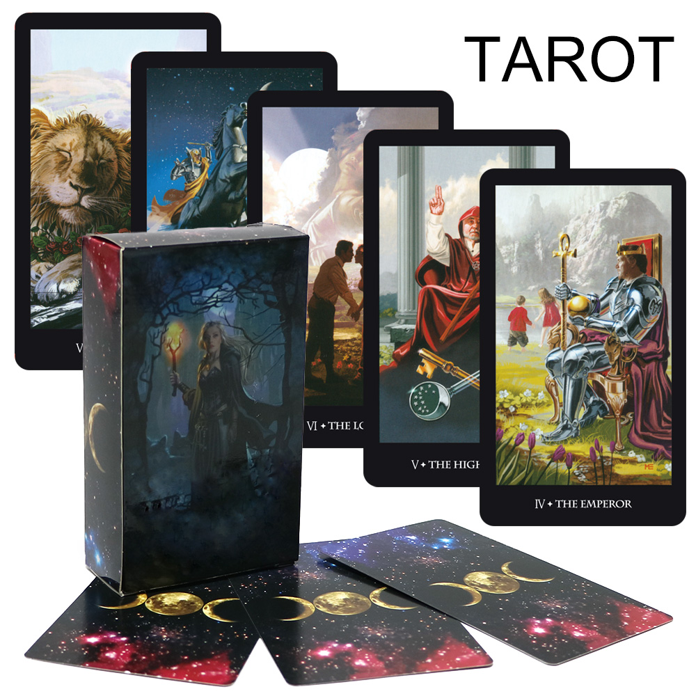 Divination Mystic Tarot Deck, Fairy Tarot Cards Game, Full English Read Your Fate, Fortune, Future Board Game