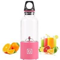 500ml 4 blade portable blender juicer machine mixer electric mini usb food processor  juicer smoothie blender cup maker juice 5