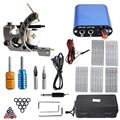Complete Tattoo kits 1 coil tattoo machine sets power supply disposable needle free shipping