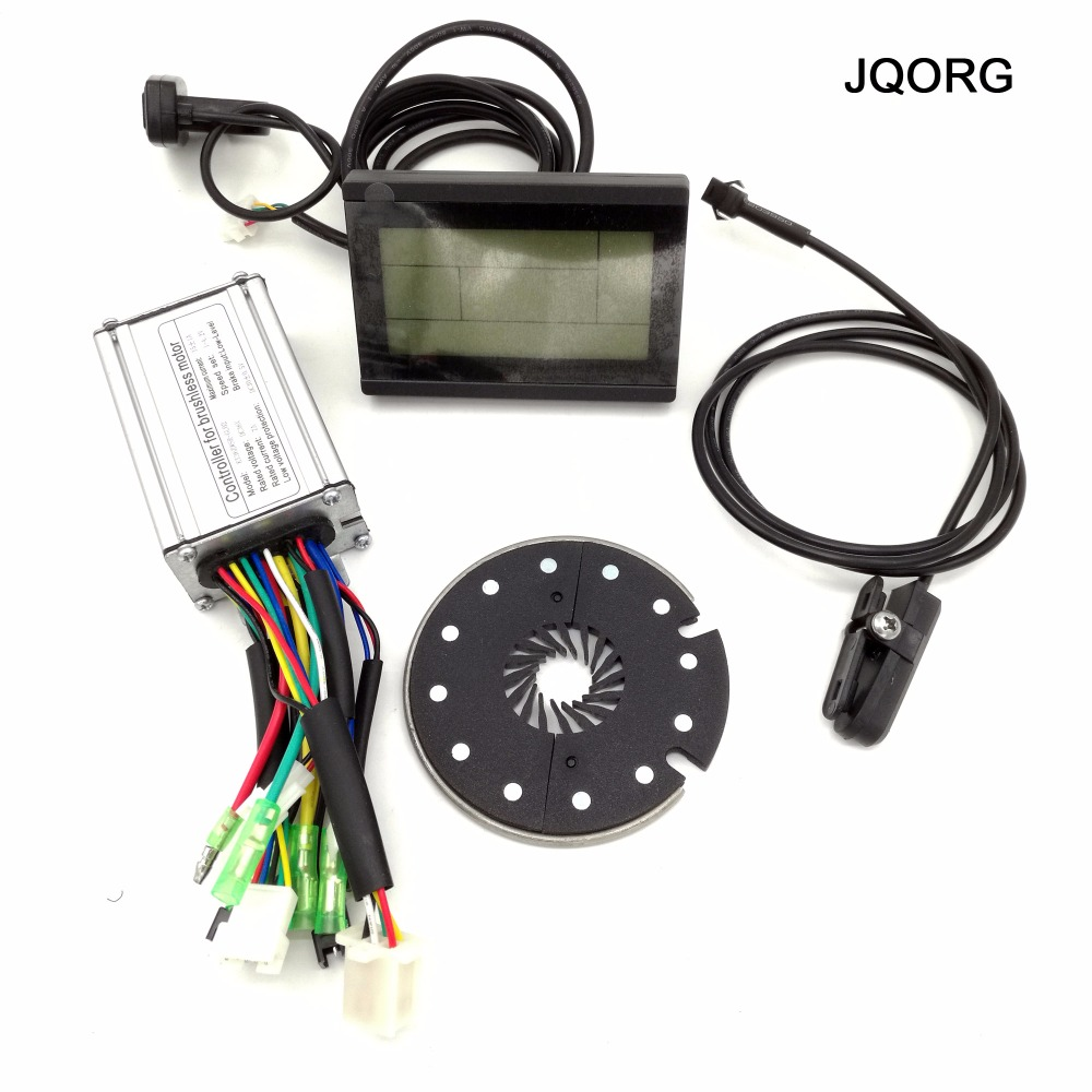 ФОТО JQORG LCD Control System 36V 250W Brushless Motor Controller With LCD3 Display And Fast Release Pedal Assist Sensor For E-bike