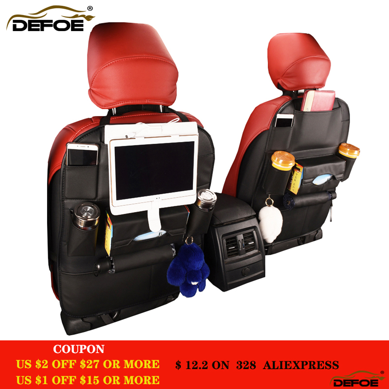 Nieuw design Autostoel opbergtas Meer groot dik leder Auto autostoel - Auto-interieur accessoires - Foto 1