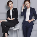 Long-sleeved pants suit Ms. career being renovated body suits autumn new white-collar bank overalls interview-do821