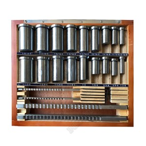 22pcs Keyway Broach kits 4mm 5mm 6mm 8mm Broach Push Type & 13pcs Bushs & 5pcs Shim HSS for CNC Broaching Metalworking Cutting