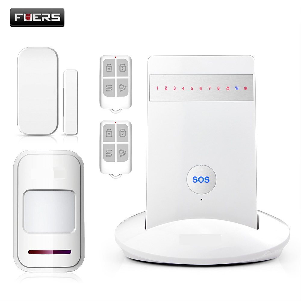 Fuers G15 GSM Alarm System Home Security System APP Control SMS Burglar Alarm System with PIR Motion Detector Door Sensor fuers wifi gsm sms home alarm system security alarm new wireless pet friendly pir motion detector waterproof strobe siren