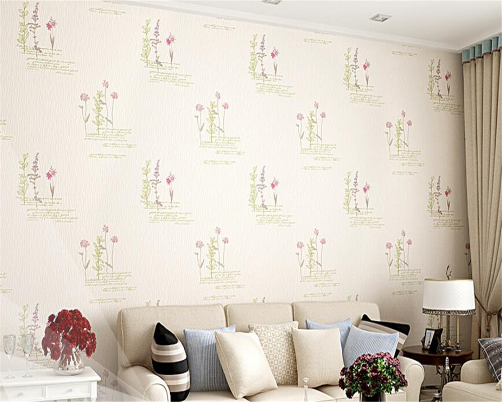 beibehang tapety Warm Pastoral Nonwovens 3D Stereo Wallpaper Fashion Modern Romantic Backdrop Wall papel de parede 3d wallpaper in Wallpapers from Home Improvement