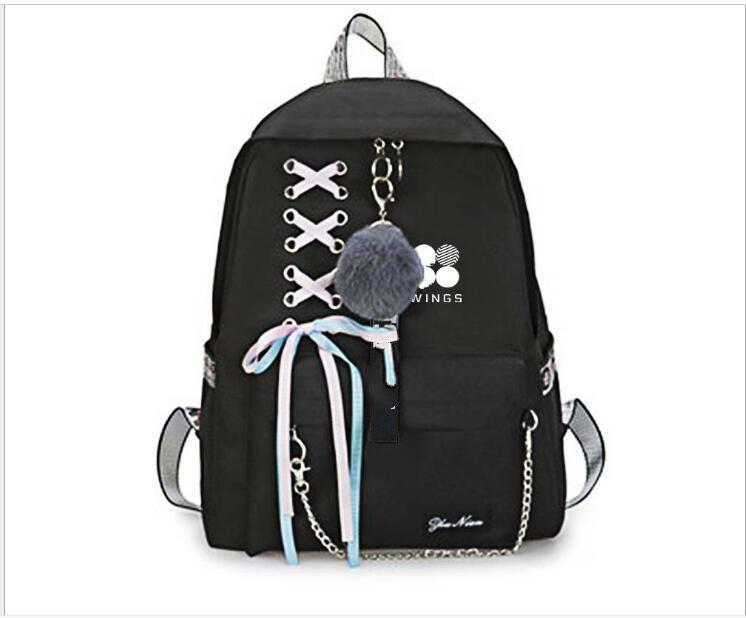 New Kpop Bangtan JUNGKOOK Suga V Jin RM JIMIN Same Students Cool Shopping Travel Bag Backpack Harajuku Canvas Bag Bookbag