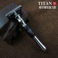 Titan maquinilla de afeitar de seguridad, el mango de metal, envío de la alta calidad de afeitar, hoja de afeitar reemplazable