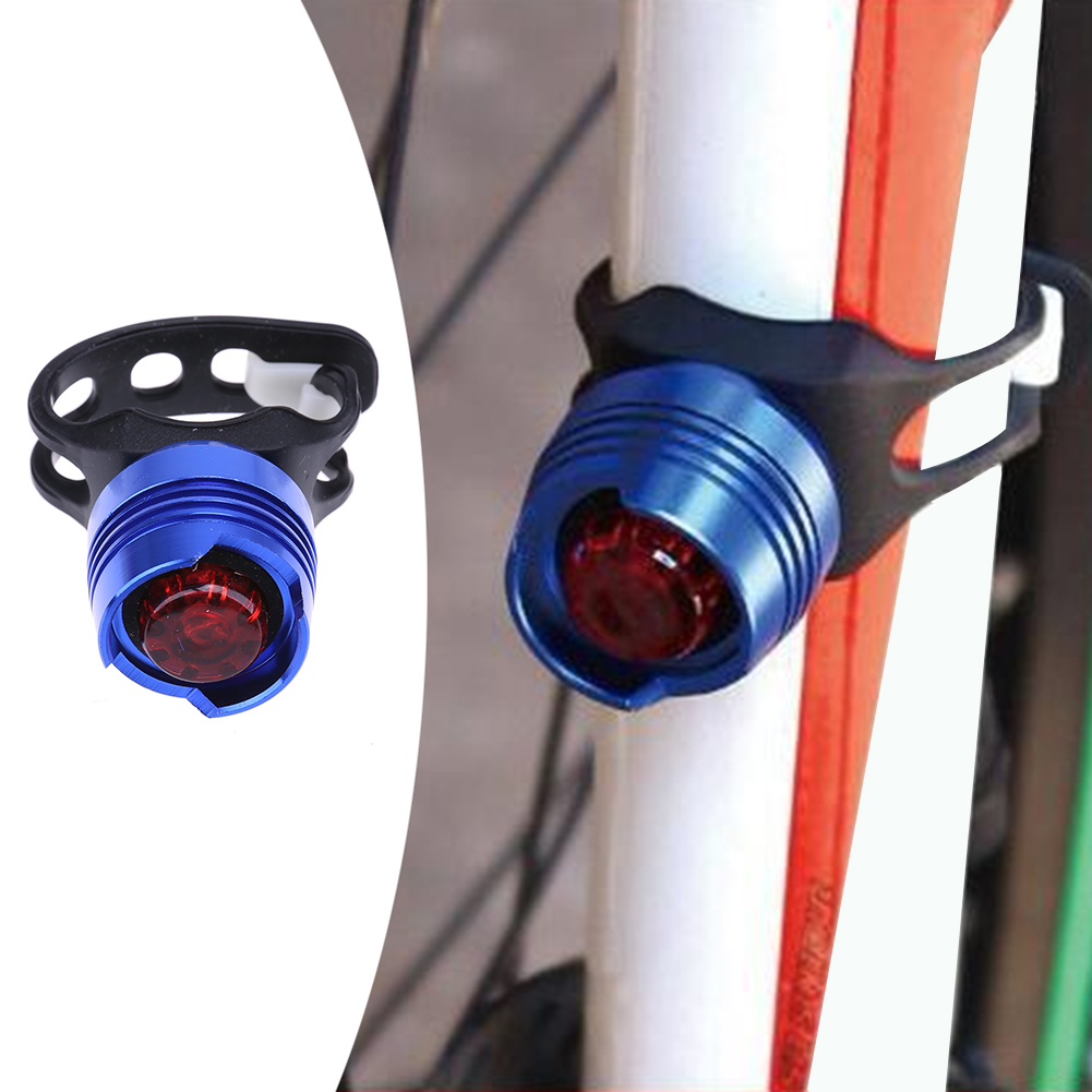 Mini Bright <font><b>Bike</b></font> Bicycle Rear Light Aluminum Alloy <font><b>Cased</b></font> Tail Light Cycling Warning Flashing Rear Lamp for MTB Road Bicycle
