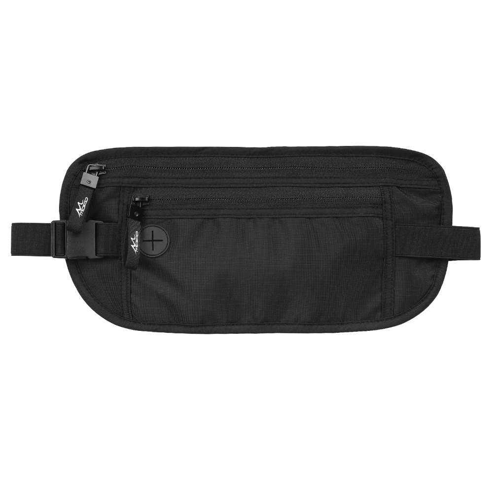 MoKo FRID Blocking Money Belt Undercover Hidden Travel Wallet For Men & Women,Secure Money Belt For Travel