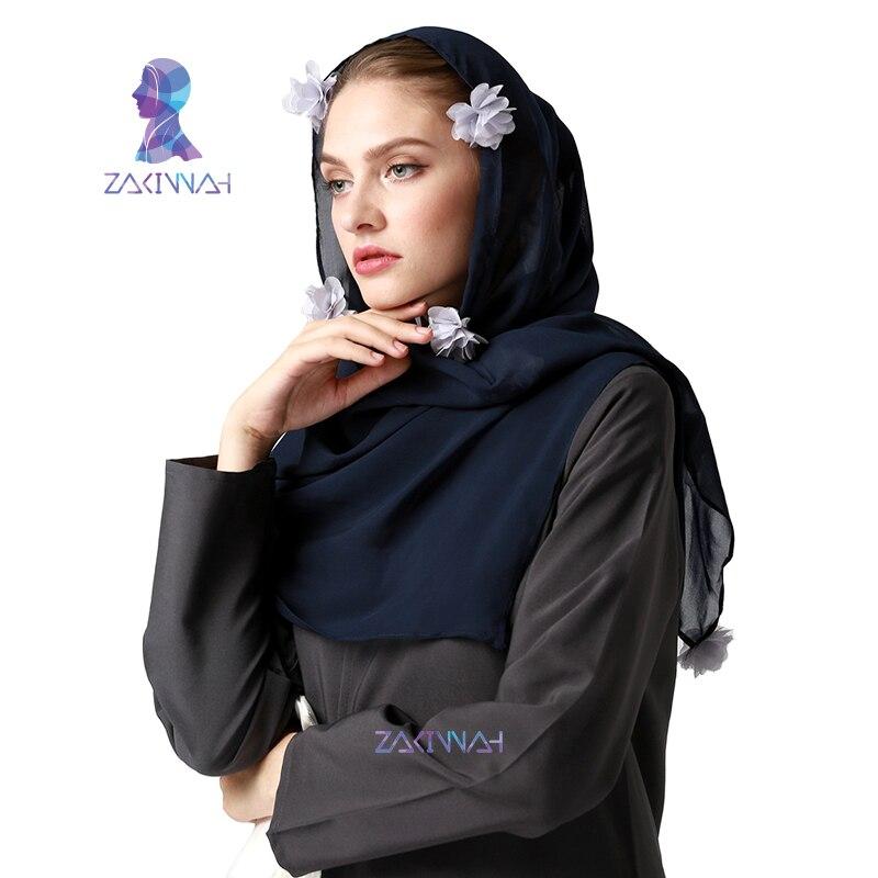Muslimsk hijab halsduk ny stil varumärke halsduk Flower hijab mode - Nationella kläder - Foto 4