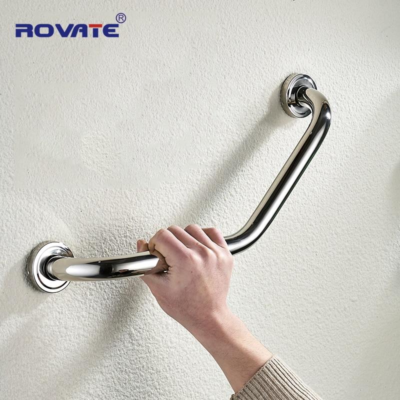 ROVATE Bathroom Safety Grab Bar Toilet Bathtub Handrails Bathroom Handle Armrest Safety Support Handle Towel