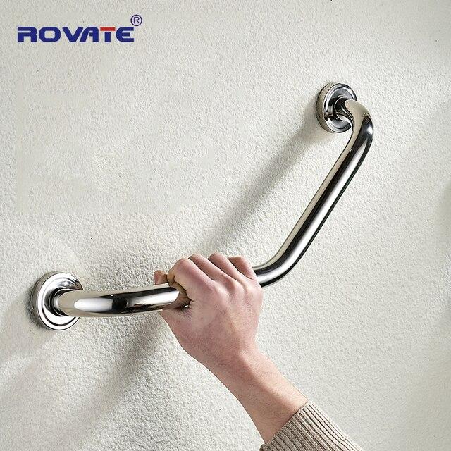 ROVATE łazienka uchwyt zabezpieczający toaleta wanna poręcze łazienka uchwyt podłokietnik uchwyt bezpieczeństwa uchwyt wieszak na ręczniki