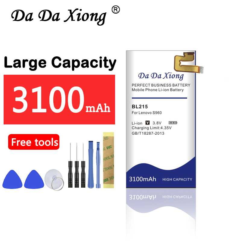 Da Da Xiong 3100mAh BL 215 BL215 <font><b>Battery</b></font> for <font><b>Lenovo</b></font> VIBE X <font><b>S960</b></font> S968T <font><b>battery</b></font> image