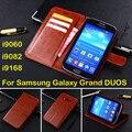 Caixa do telefone para Samsung Galaxy i9082 grande Duos couro, caso carteira luxo i9080 GT-I9082 para Neo i9060 i9062 Plus i9060i sacos