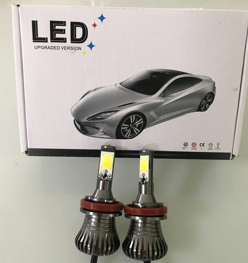 2pcs Dual Color Car Turn Light Lamp 30w LED Fog Tail Bulbs H3 H11 H8 H9 HB3 HB4 9005 9006 H27 880 881 White Golden Foglights