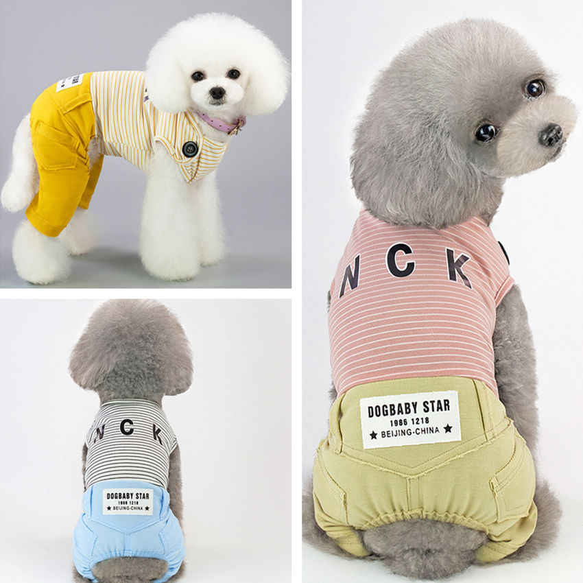 Dog Clothes Stripe Pet Clothing for Dog Cat Pet Clothes Chihuahua Clothes S - XXL for Small Dogs Pets Summer Spring Autumn