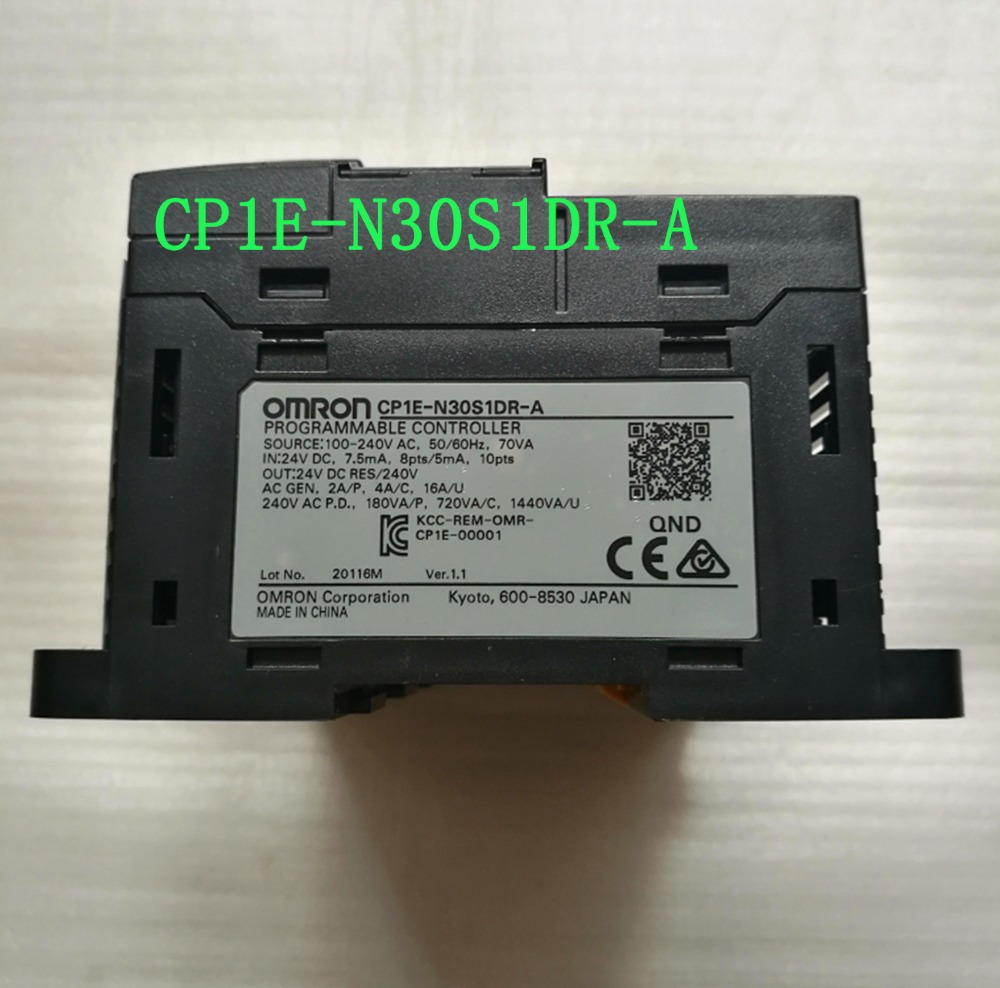 CP1E-N30S1DR-A Original New PLC CPU AC 100-240V input 18 point relay output 12 point CP1E  Motor controller N30S1DR-A N30S1DR zipower pm 4161