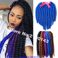 Hot Sale 6 Packs Havana Mambo Twist Braids Hair Mix Kanekalon Synthetic Fiber Hair Crochet Braiding Hair Extension 14 18 22 Inch