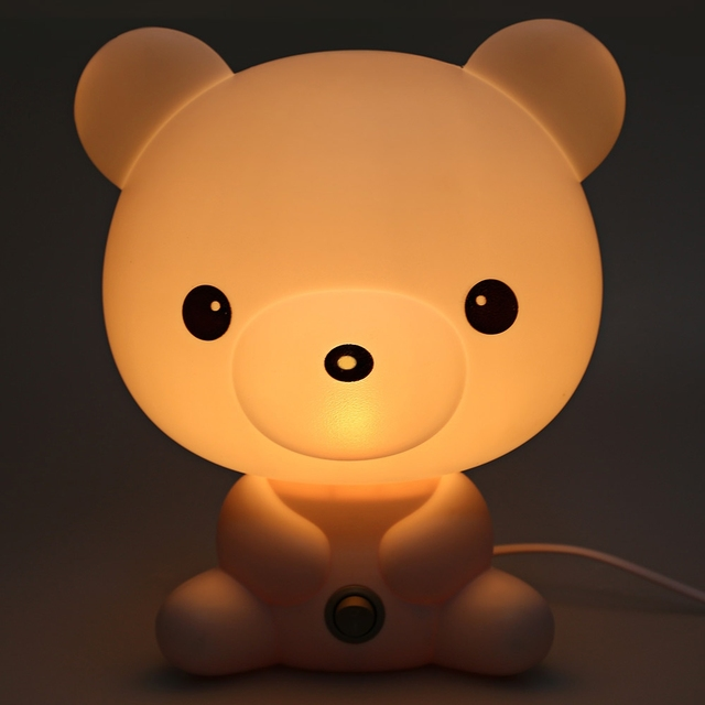 2017 New Cute Cartoon Bear Design Energy Saving Warm Light Desk Lamp Nightlights Best Gift for your Lovers or your Friends