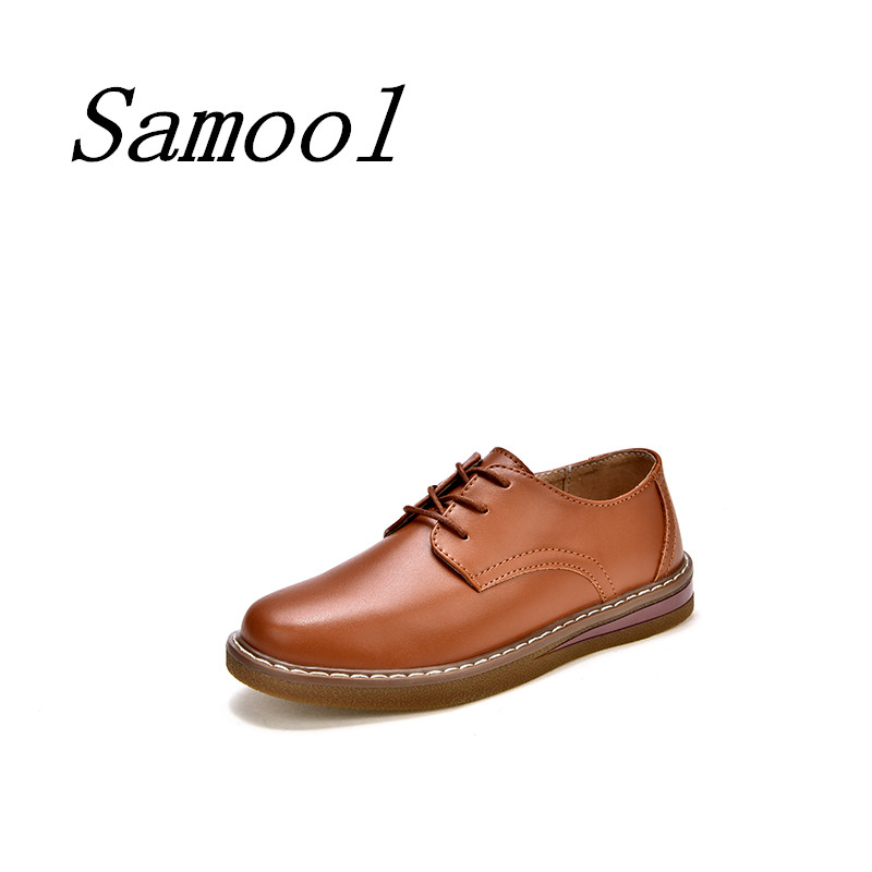 2018 Autumn women retro style oxford shoe flats shoes women comfortable leather lace up boat shoes round toe flats moccasins jx5 2018 autumn