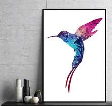 Nordic Poster Bird Natural Canvas Painting Abstract Wall Pictures For Living Room Modern Home Decoration Art Prints No Frame(China)