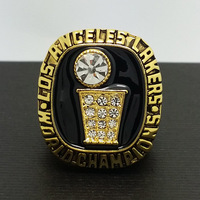 1985 Los Angeles Lakers NBA National Basketball Championship Alloy Ring 10Size MVP Jabbar Best Fans Gift