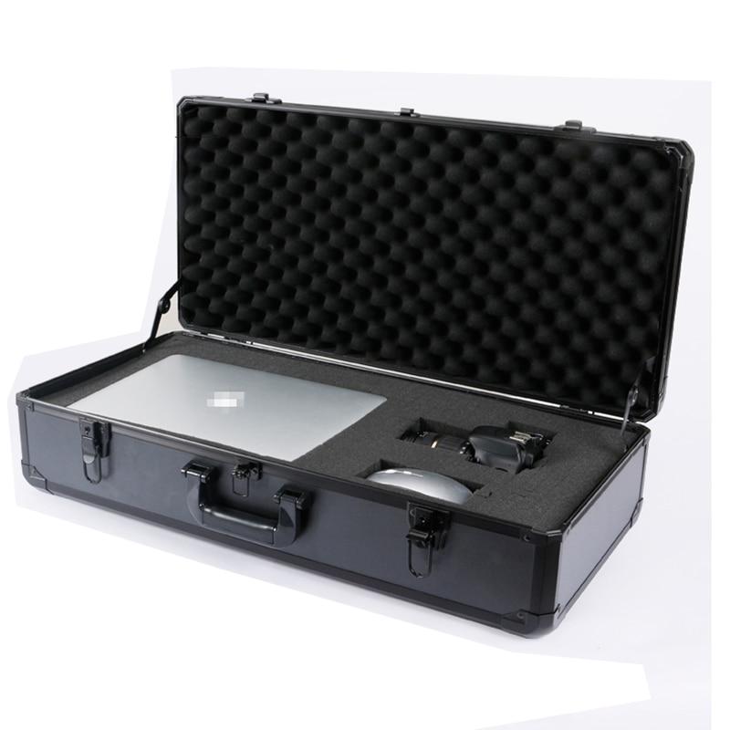 680x320x170mm Aluminum Tool Case Safety Equipment Instrument Case Suitcase Hardware Storage Box Multi-function ToolBox