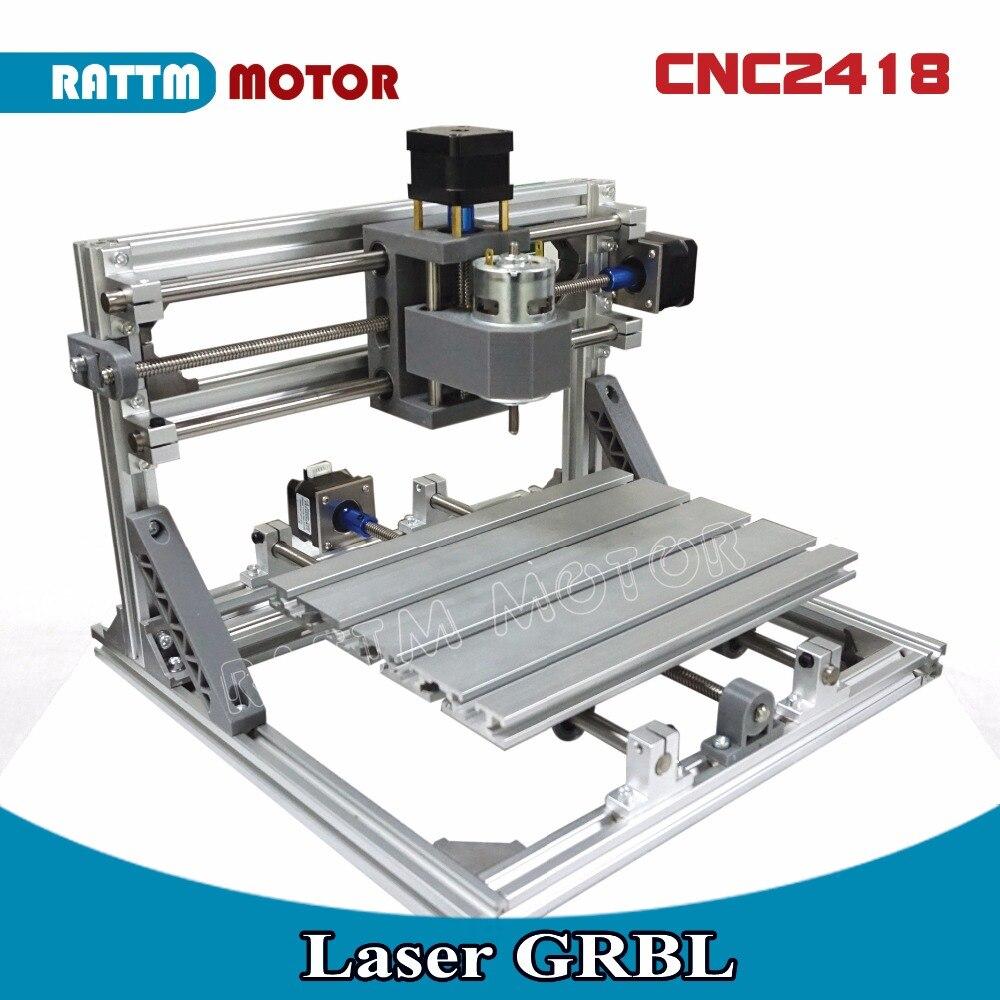 EU Ship! CNC 2418 GRBL control DIY Laser machine working area 24x18x4.0cm,3 Axis Pcb Pvc Milling machine Carving Engraver,v2.5 cnc 2418 grbl control diy cnc machine working area 24x18x4 5cm 3 axis pcb pvc milling machine wood router carving engraver v2 5