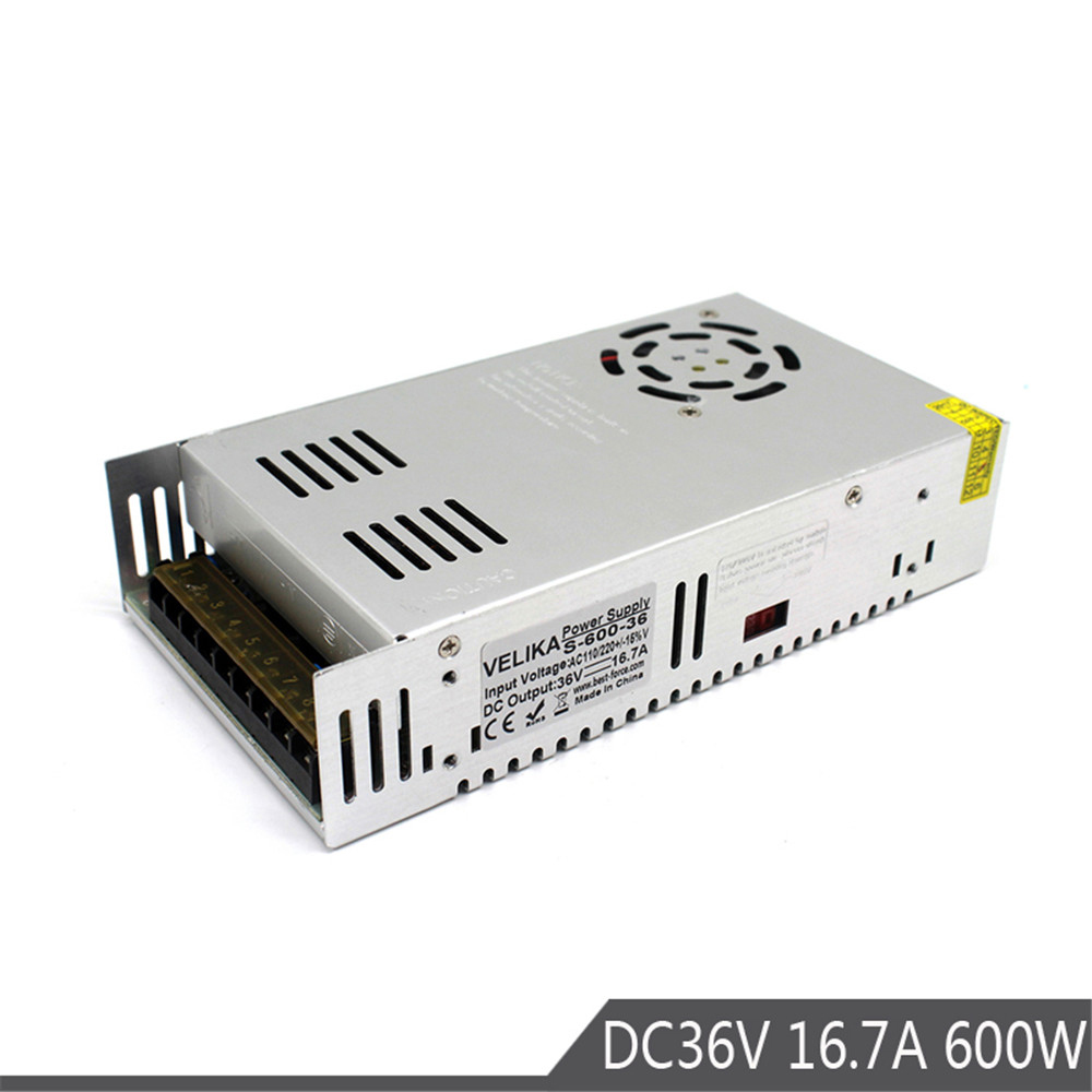 Power Supply Switch 600W 16 7A 36V Led Driver Transformers AC110V 220V TO DC36V SMPS for