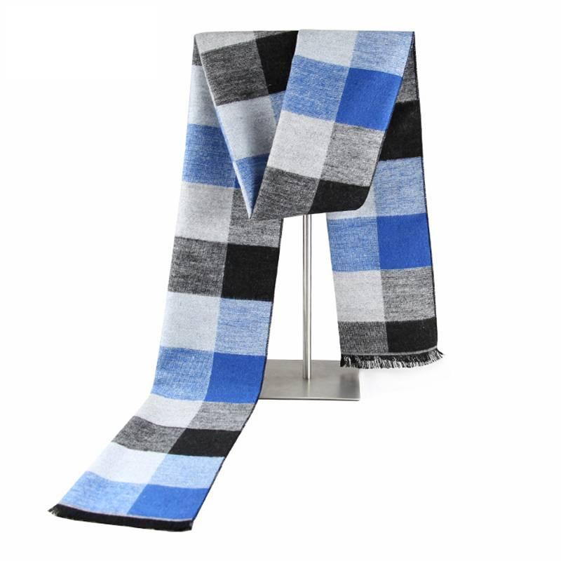 Chic Plaid Scarf Men Winter Warm Cashmere Scarf Luxury Brand font b Tartan b font Pattern