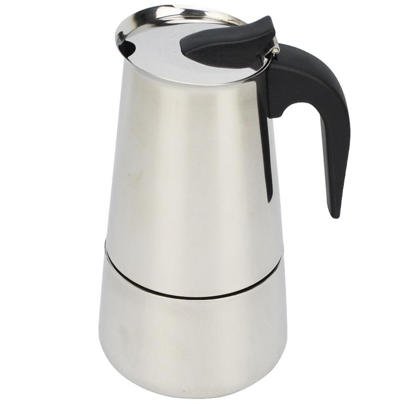 New 2 4 6 9 Cups Moka Espresso Coffee Maker Espresso Cup Coffee Moka Pot Latte Percolator Stove Top in Coffee Makers from Home Appliances