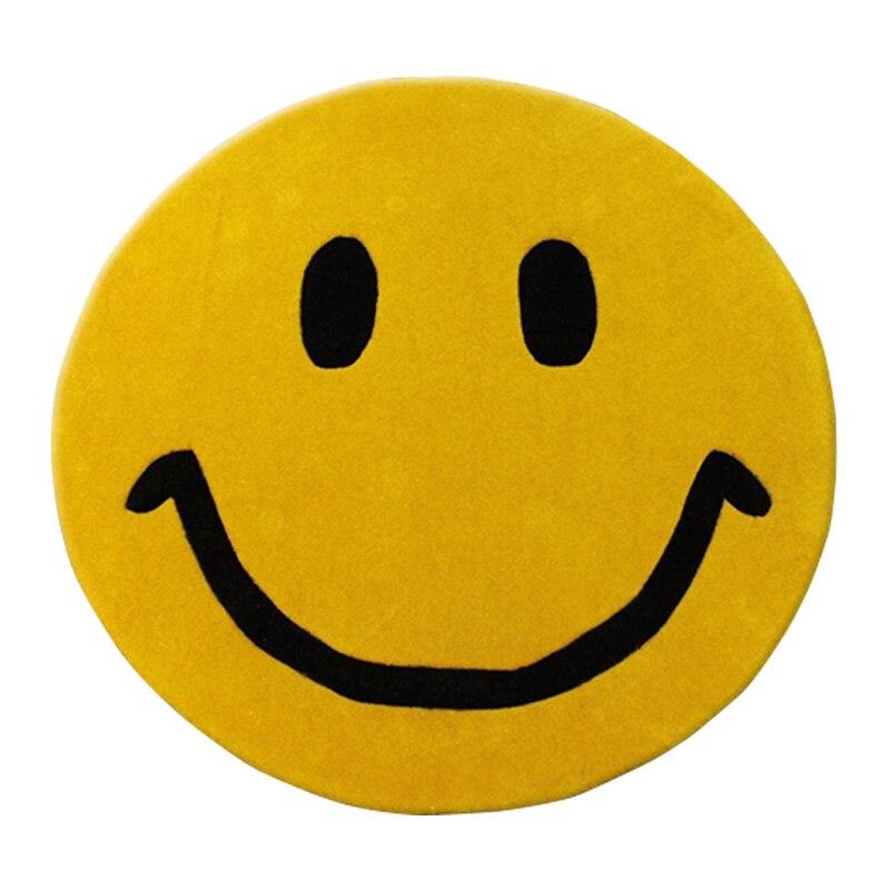 WINLIFE Dessin Animé Tapis de Style Sourire Motif Épais Tapis Emoji Tapis Anti-dérapant Tapis Pour Le Salon/Chambre à Coucher/ yoga Jouer