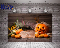 Kate Happy Halloween Photo Background Photography Backdrop Wooden Toile De Fond Studio Photo Pumpkin Lavender Foto Background