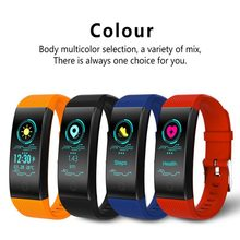 QW18 Color Screen Smart Bracelet Wristbands Sports Fitness Tracker Passometer Remote Self-timer Health Monitoring(China)