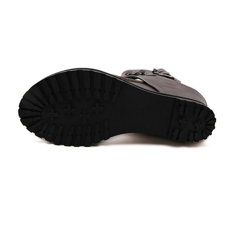 Zomer platform sandalen Enkel schoenen punk Ketting klinknagels - Damesschoenen - Foto 6