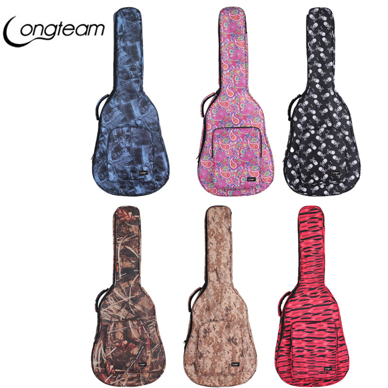 40 41 Inch Folk Acoustic Guitar Case Gig Bag Double Straps Canvas Pad Cotton Thickening Soft