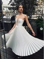 Cheap Short Wedding Dress 2019 Robe de mariee Backless Sexy Strapless Bridal Dresses Sleeveless Lorie Beach Wedding Party
