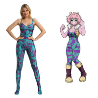 New Anime My Hero Academia Ashido Mina Boku no Hero Academia Cosplay Costumes Zentai Jumpsuits Bodysuits Halloween Carnival Suit