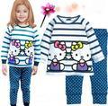 Asseclas Pijamas Crianças Para Meninos Pijamas Set Tops + Calças de Pijama Infantil Pijamas Crianças despicable me Dos Desenhos Animados Roupa de Dormir Roupas