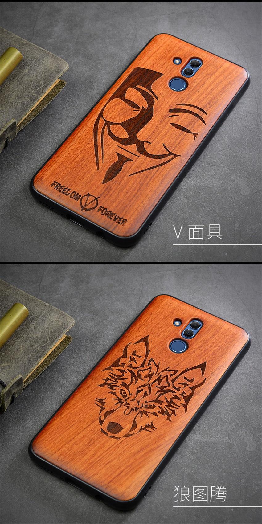 2018 New Huawei Mate 20 Lite Case Slim Wood Back Cover TPU Bumper Case For Huawei Mate 20 Lite Phone Cases Mate20 lite (13)