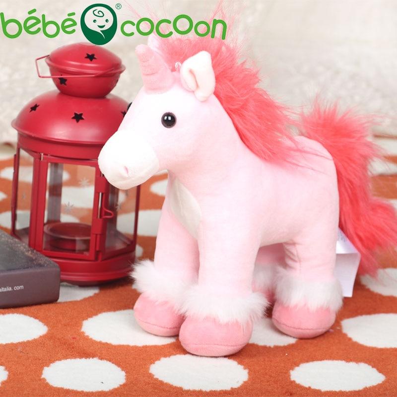 Bebecocoon Kawaii Unicornio פלוש יפה Unisornio Unicornio - צעצועים ממולאים