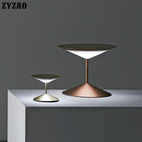 Modern Simple Creative Metal Living Room Lamp Nordic Bedroom Study Designer LED Table Lamp Home Decor Art Deco Nightstand Lamp
