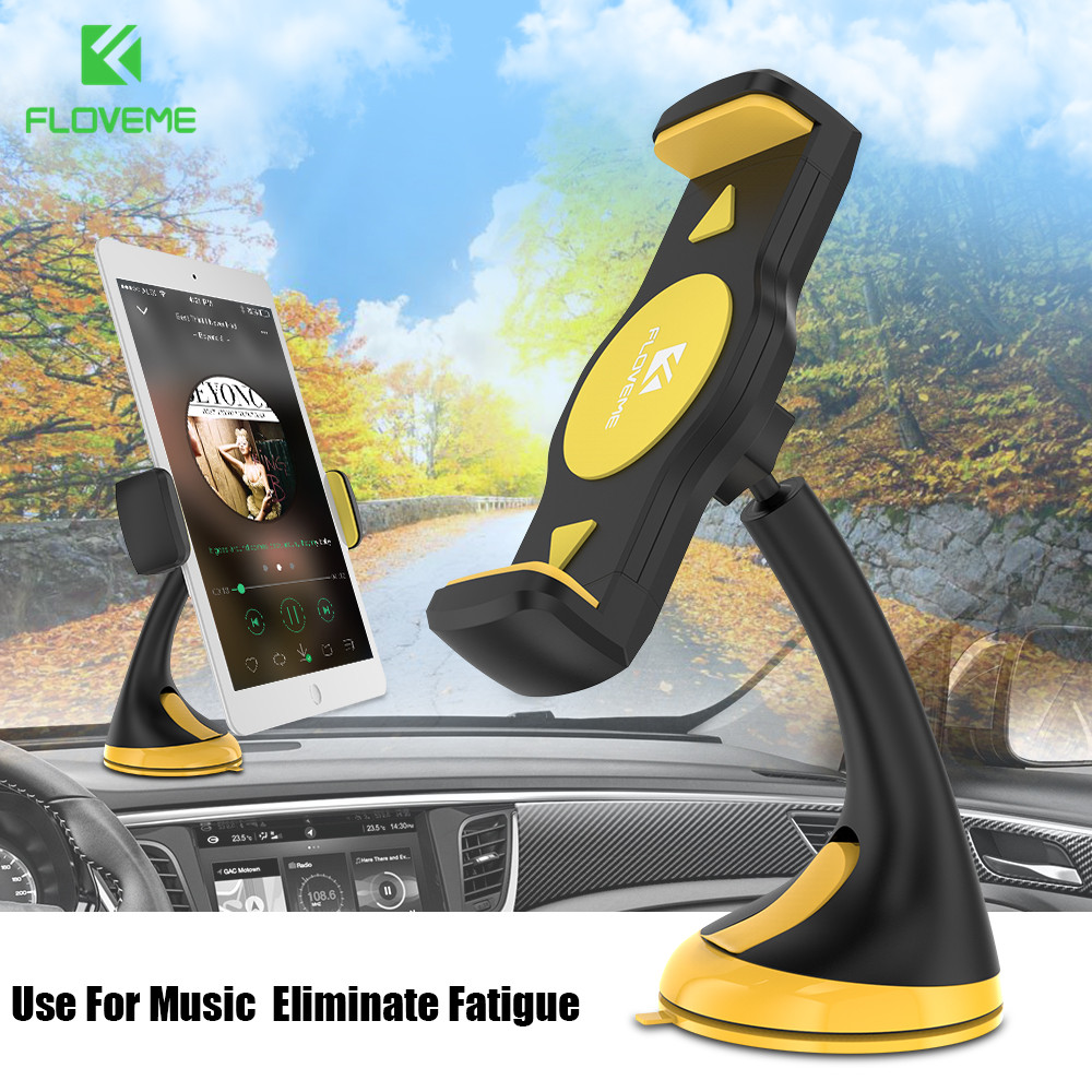 FLOVEME 360 Degree Rotation Car Phone Holder For Xiaomi mi8 Strong ABS Plastic Phone Stand For Huawei Mate 10 Lite P20 P10 Lite