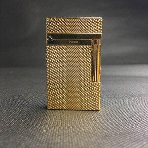 Image 3 - 100% Новая Винтажная газовая ветрозащитная Зажигалка dupont с ярким звуком для сигарет