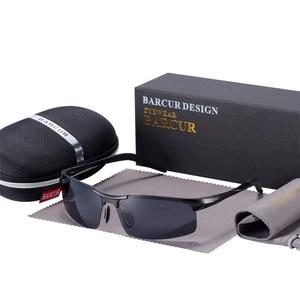 Image 4 - BARCUR Classic Design Aluminum Sunglasses Men Women Polarized Anti Reflective Sun glasses Male Oculos De Sol Shades