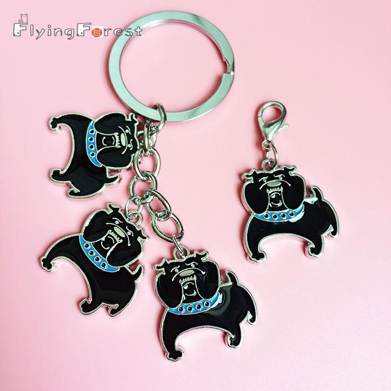 Cartoon Corgi Key Chain Retro Keychain Classic High-grade Key Ring Car Keyring Car Accessories Key Rings