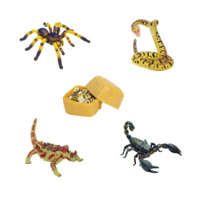 Assorted 4pcs/set of ukenn 3D desert animal puzzles DIY models kids educational toy 2766